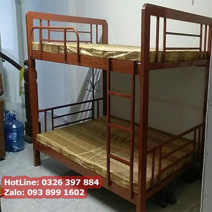 Giường sắt 2 tầng cao cấp cho phòng trọ, homestay giá rẻ 5