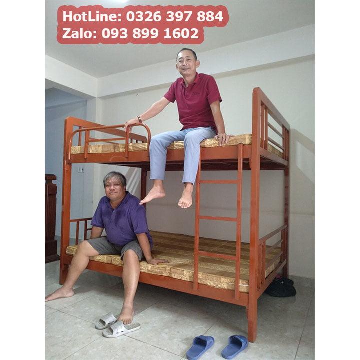 Giường sắt 2 tầng cao cấp cho phòng trọ, homestay giá rẻ 6