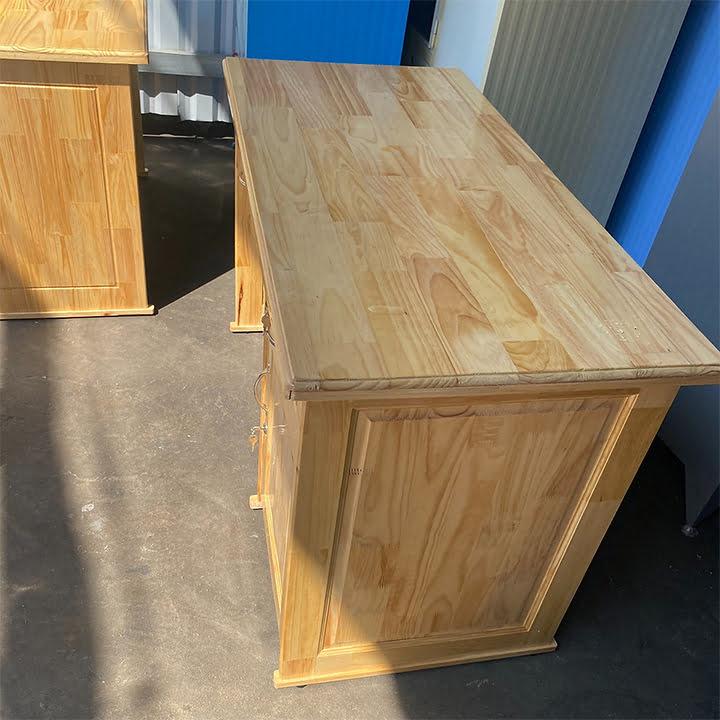 Bàn học, bàn vi tính gỗ thông tự nhiên có hộc 3