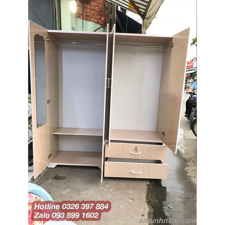Tủ nhựa màu xanh dương, hồng, trắng đẹp AB759 3