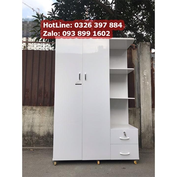 Tủ nhựa đựng quần áo giá rẻ rộng 1m25 x cao 1m8 AB703 2