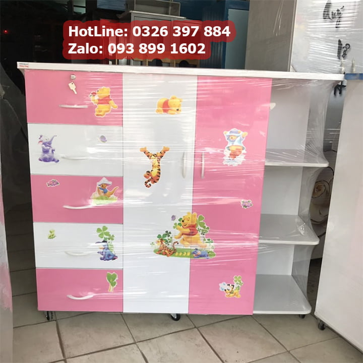 Tủ nhựa treo quần áo bằng Nhựa Đài Loan AB706 1