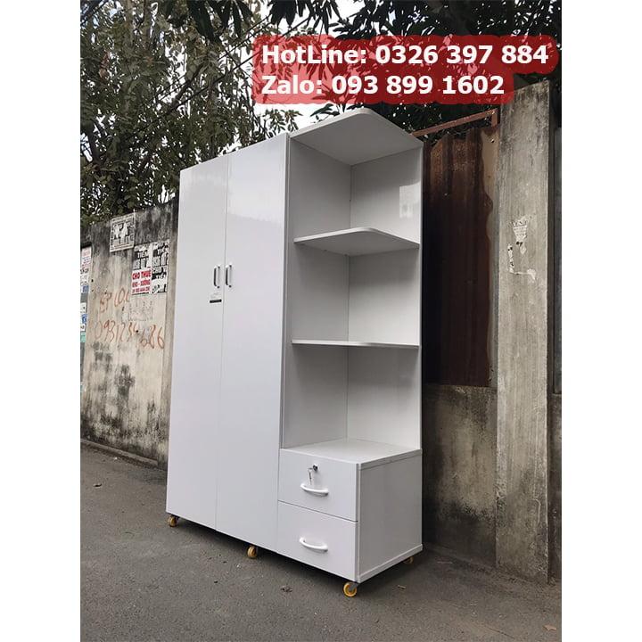Tủ nhựa đựng quần áo giá rẻ rộng 1m25 x cao 1m8 AB703 3