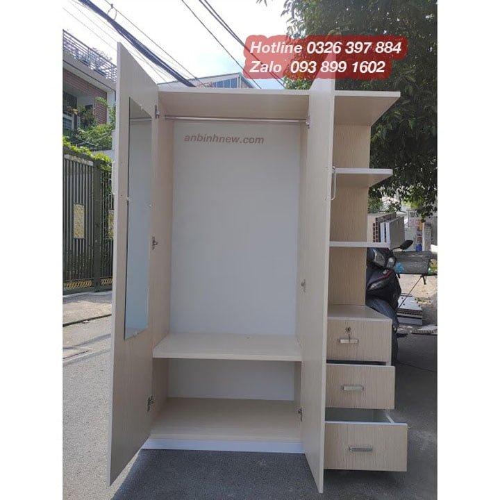 Tủ nhựa Đài Loan có gương 1m25 x 1m8 AB704 1