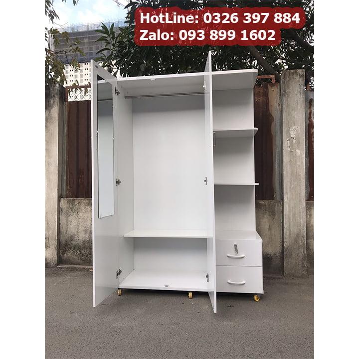 Tủ nhựa đựng quần áo giá rẻ rộng 1m25 x cao 1m8 AB703 4