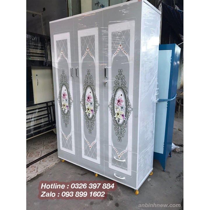 Tủ quần áo bằng nhựa in 3D AB758 4