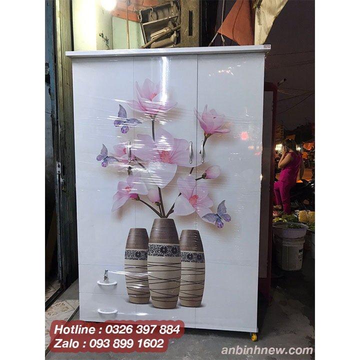 Tủ nhựa màu xanh dương, hồng, trắng đẹp AB759 4