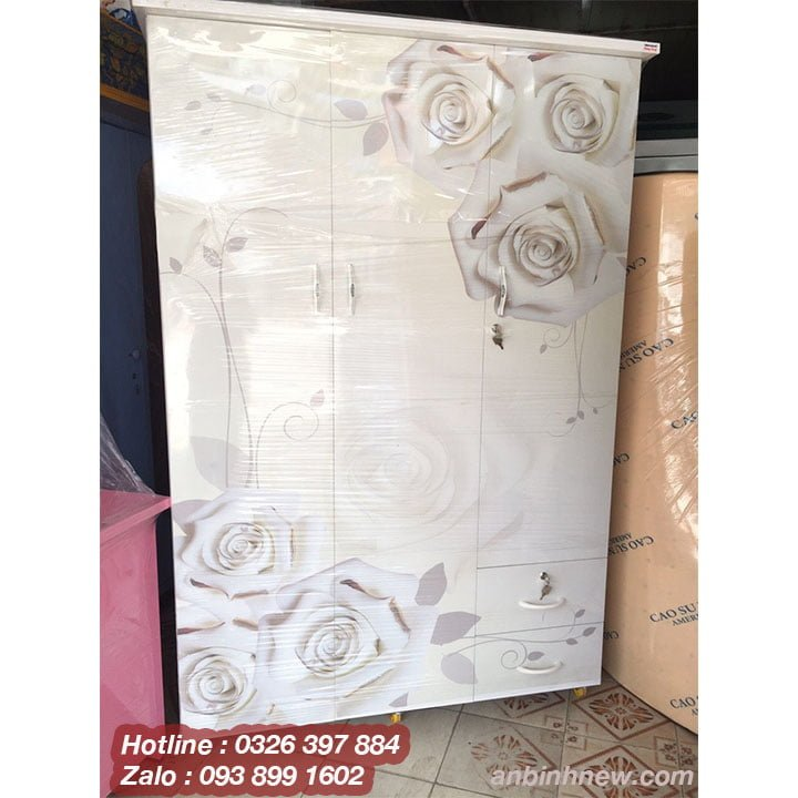 Tủ quần áo bằng nhựa in 3D AB758 2