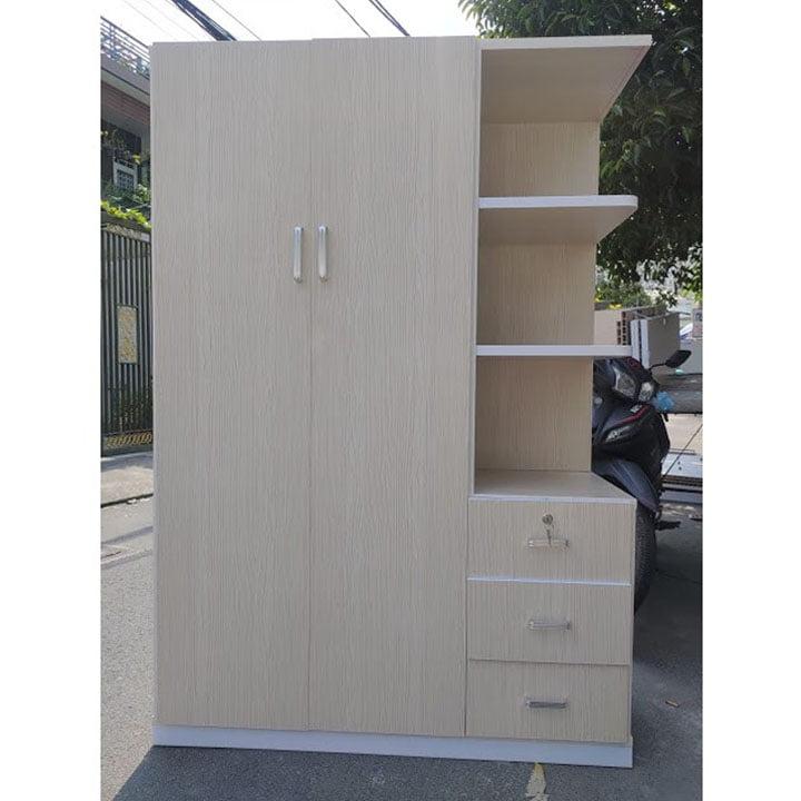 Tủ nhựa Đài Loan có gương 1m25 x 1m8 AB704