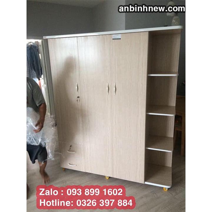 Tủ nhựa Đài Loan 3 cánh kích thước lớn B7022 6