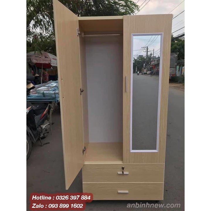 Tủ nhựa Giả gỗ có gương AB723