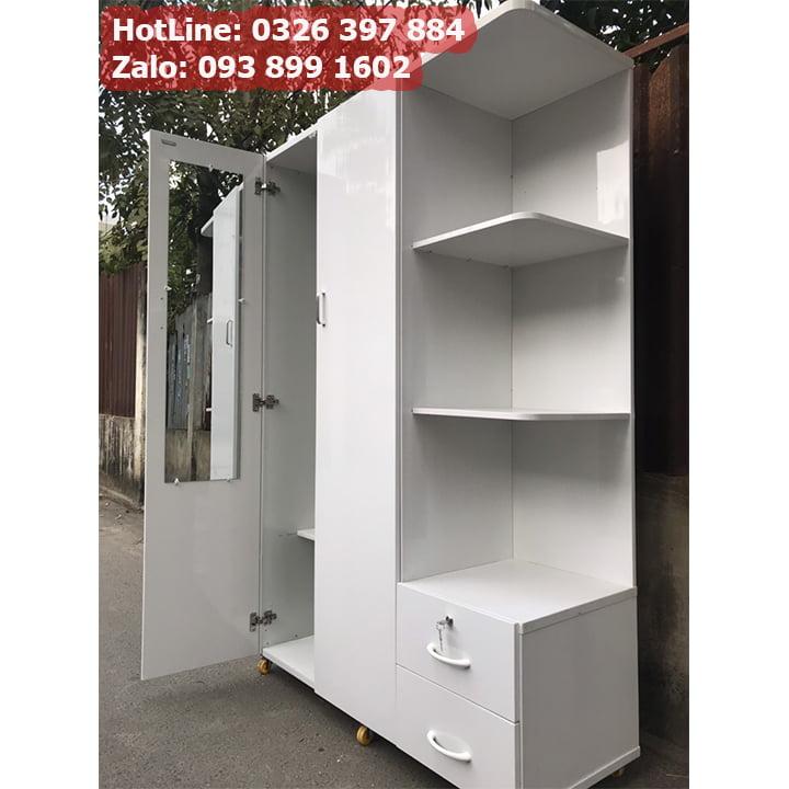 Tủ nhựa đựng quần áo giá rẻ rộng 1m25 x cao 1m8 AB703 5