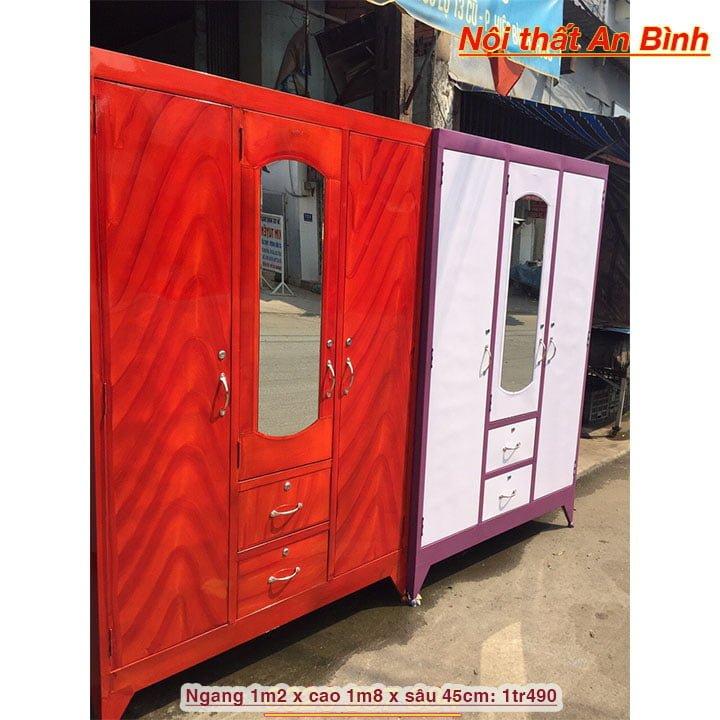 Tủ đựng quần áo bằng sắt giá rẻ nhiều màu 5