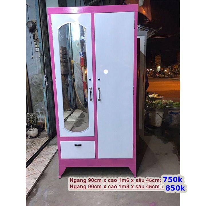 Tủ sắt đựng quần áo giá rẻ cao 1m8 2