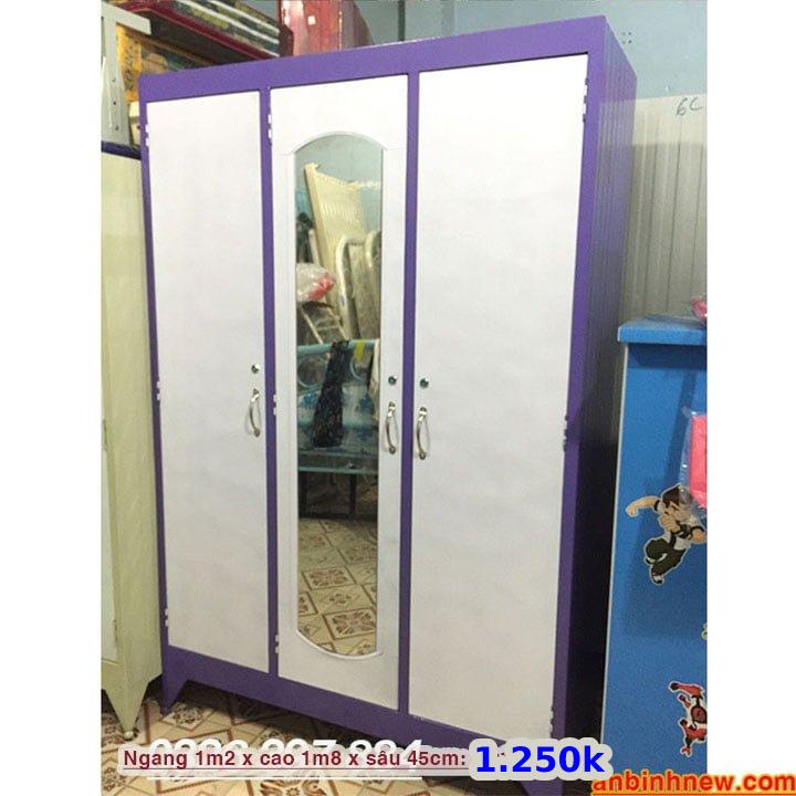 Tủ đựng quần áo bằng sắt giá rẻ nhiều màu 8