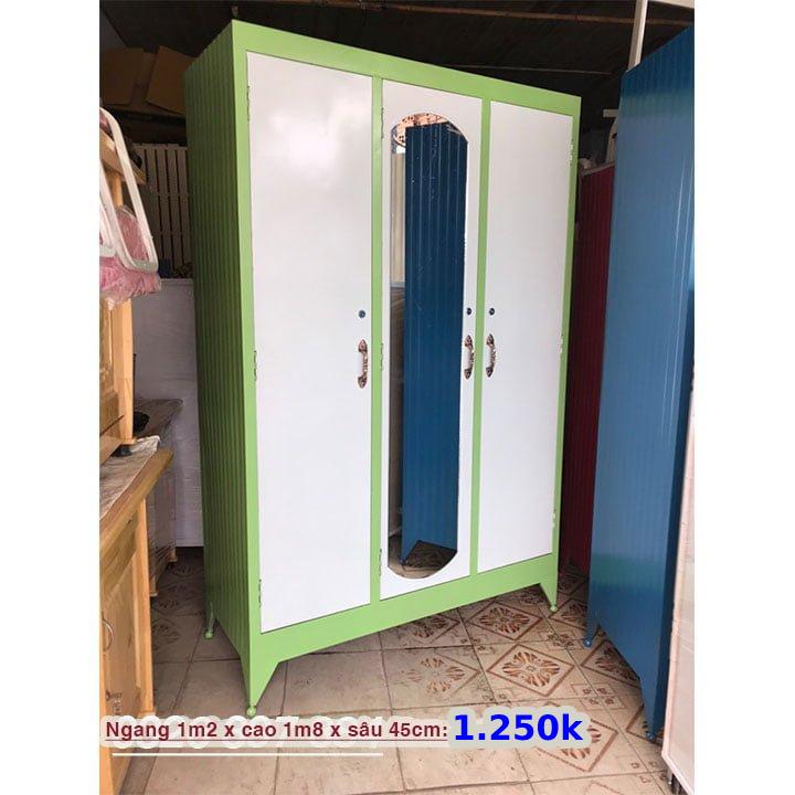 Tủ đựng quần áo bằng sắt giá rẻ nhiều màu 7