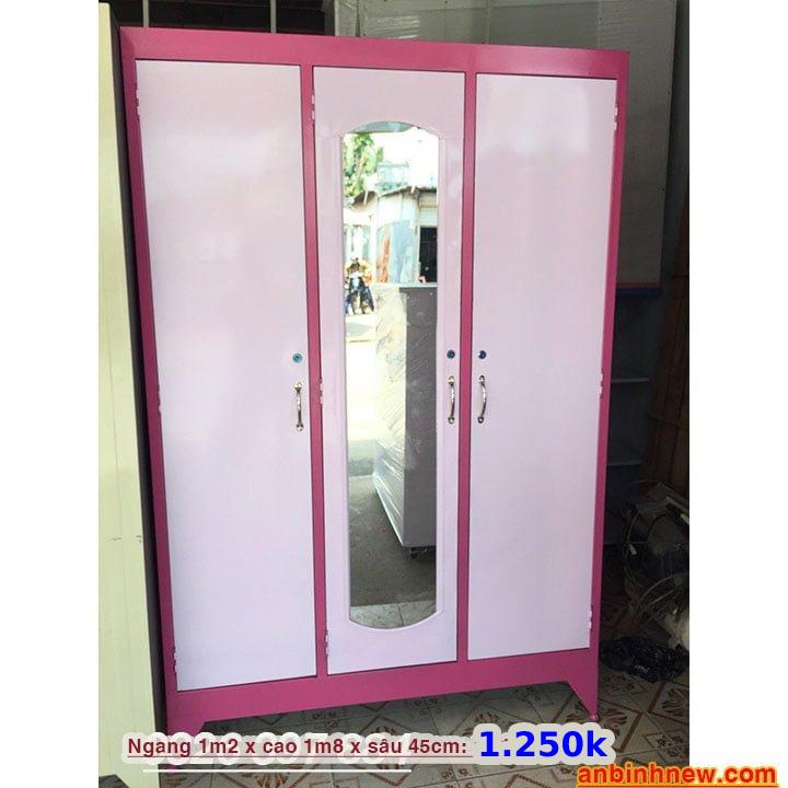 Tủ đựng quần áo bằng sắt giá rẻ nhiều màu 6