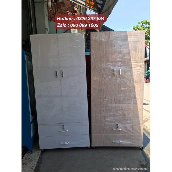 Tủ nhựa Giả gỗ có gương AB723 1
