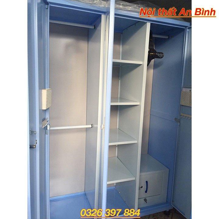 Tủ quần áo sắt cao cấp 3 ngăn 1
