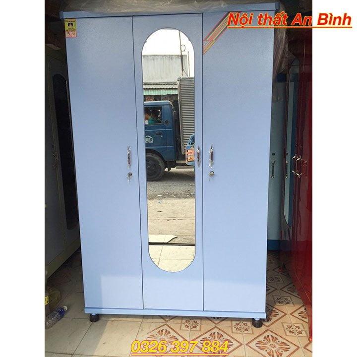 Tủ quần áo sắt cao cấp 3 ngăn
