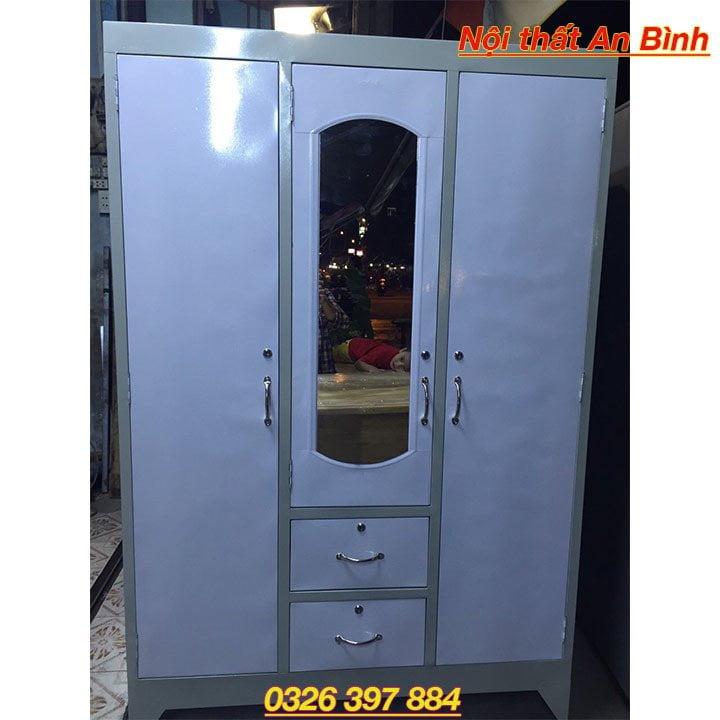 Tủ quần áo sắt giá rẻ nhiều ngăn 1m2 x 1m8 1