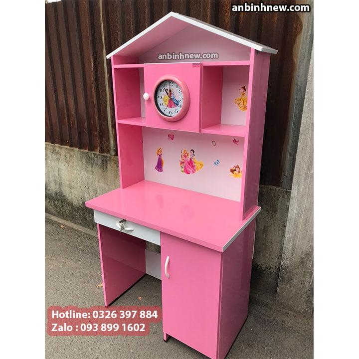 Bàn học nhựa cao cấp màu hồng công chúa 1m 4