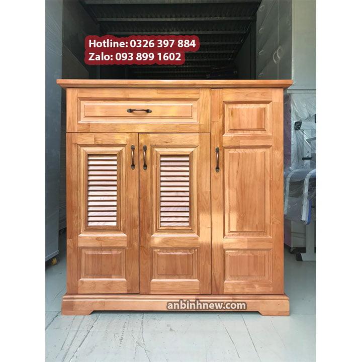 Tủ đựng giầy dép bằng gỗ nhỏ gọn ngang 80cm 2