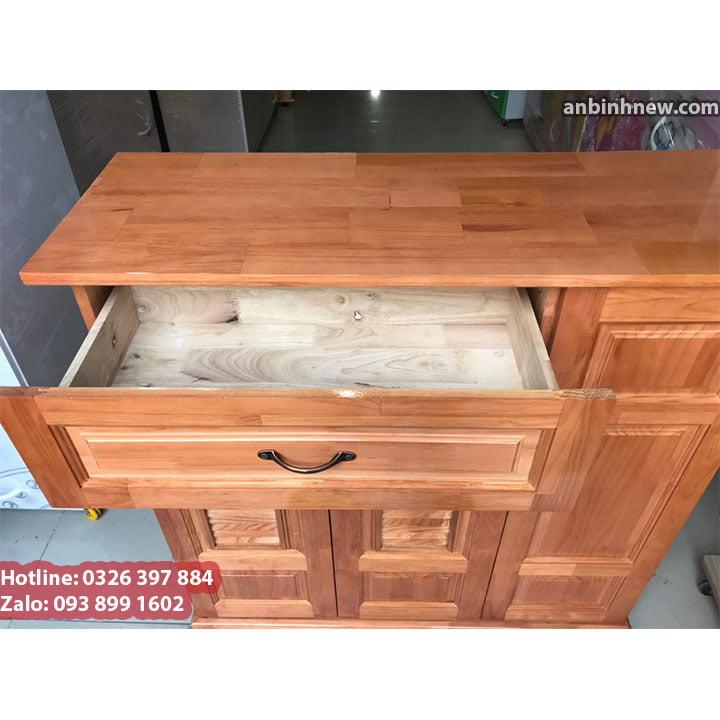 Kệ tủ để giầy dép bằng gỗ - kèm ngăn để nón báo hiểm 3
