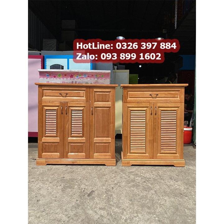 Kệ tủ để giầy dép bằng gỗ - kèm ngăn để nón báo hiểm 6