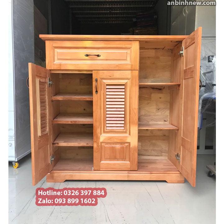 Tủ đựng giầy dép bằng gỗ nhỏ gọn ngang 80cm 3
