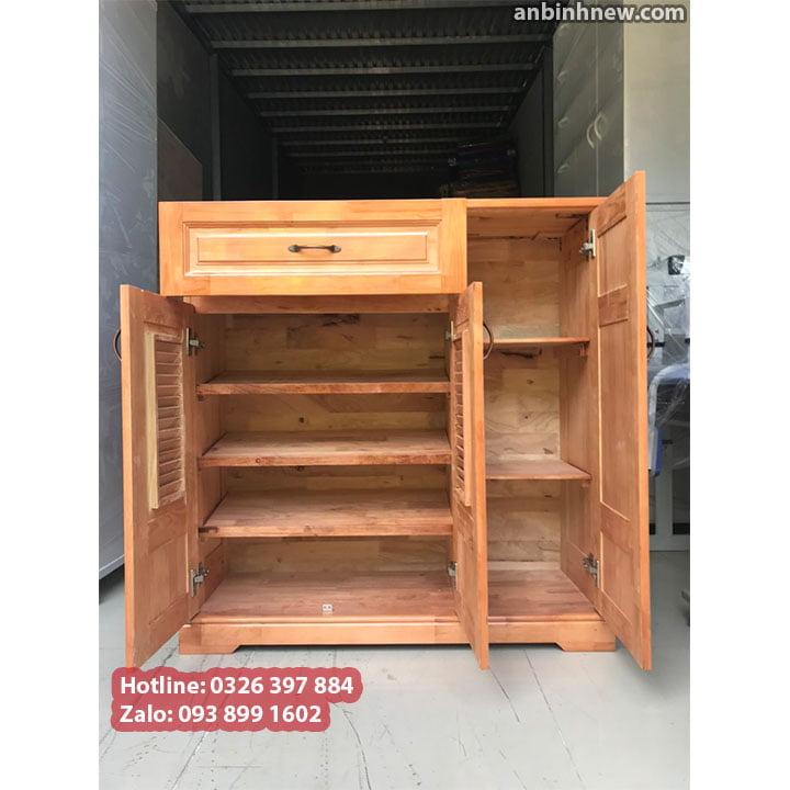 Tủ đựng giầy dép bằng gỗ nhỏ gọn ngang 80cm 4