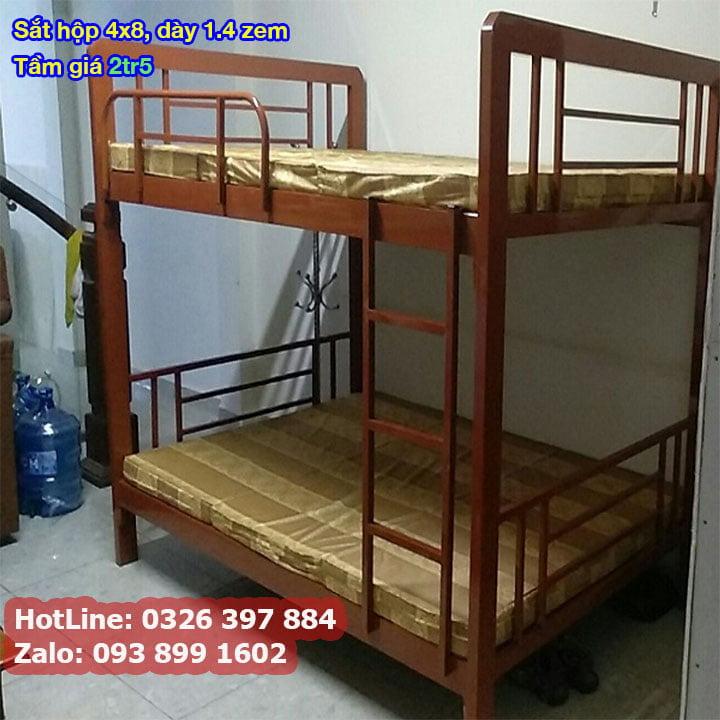 Giường tầng sắt, giường ngủ 2 tầng 1m, 1m2, 1m4, 1m6, 1m8 x 2m giá rẻ 5