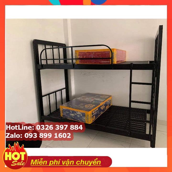 Giường tầng sắt, giường ngủ 2 tầng 1m, 1m2, 1m4, 1m6, 1m8 x 2m giá rẻ