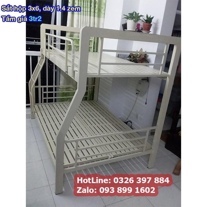 Giường tầng sắt, giường ngủ 2 tầng 1m, 1m2, 1m4, 1m6, 1m8 x 2m giá rẻ 10