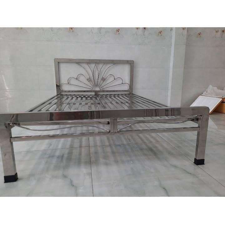 Hình ảnh giường inox 1m dành cho 1 người