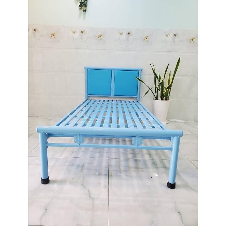 Giường ngủ đơn giá rẻ xanh dương 1m8x2m 1