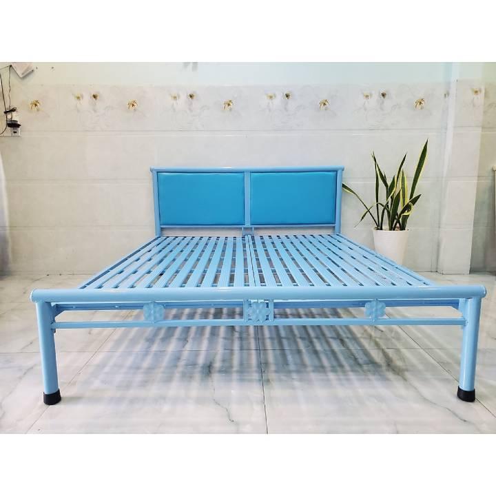Giường ngủ đơn giá rẻ xanh dương 1m8x2m