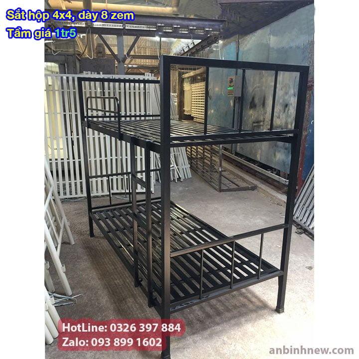 Giường tầng sắt, giường ngủ 2 tầng 1m, 1m2, 1m4, 1m6, 1m8 x 2m giá rẻ 2