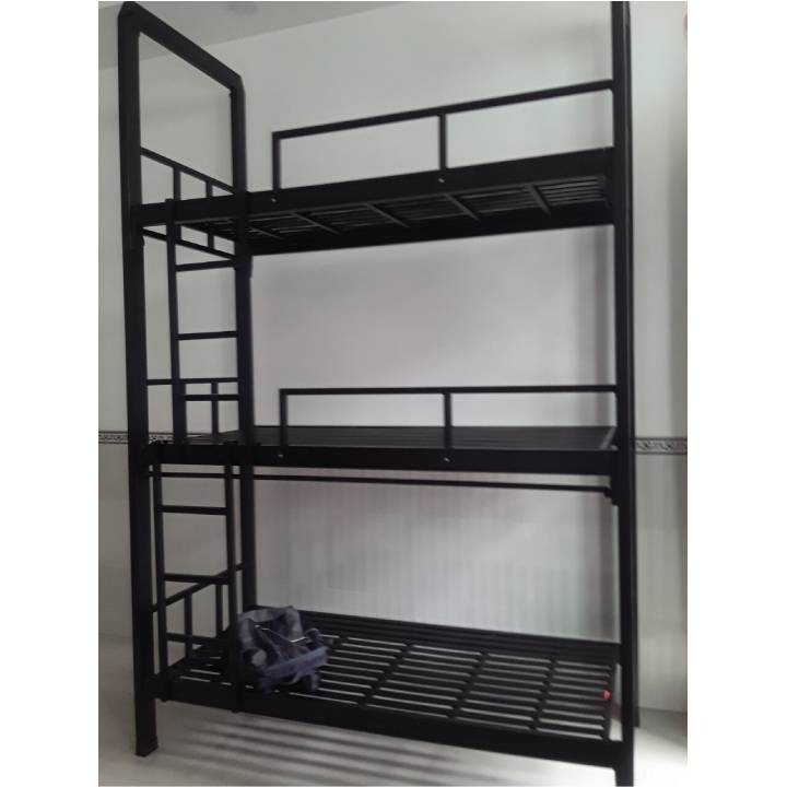 Giường 3 tầng bằng sắt giá rẻ, Mẫu giường ba tầng sắt đẹp