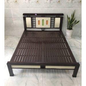 giường sắt hộp đèn 1m4 giá rẻ