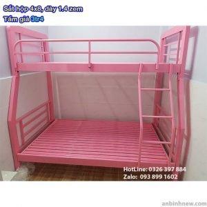 giường sắt 2 tầng cho bé gái