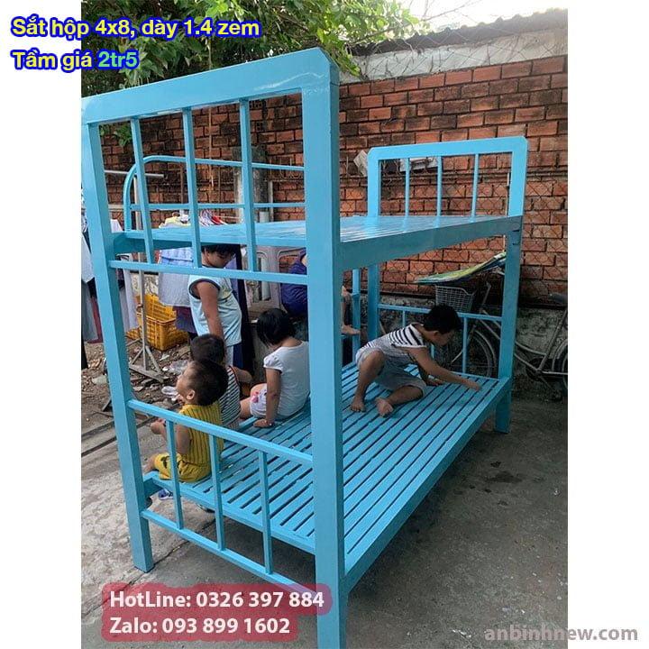 Giường tầng sắt, giường ngủ 2 tầng 1m, 1m2, 1m4, 1m6, 1m8 x 2m giá rẻ 6
