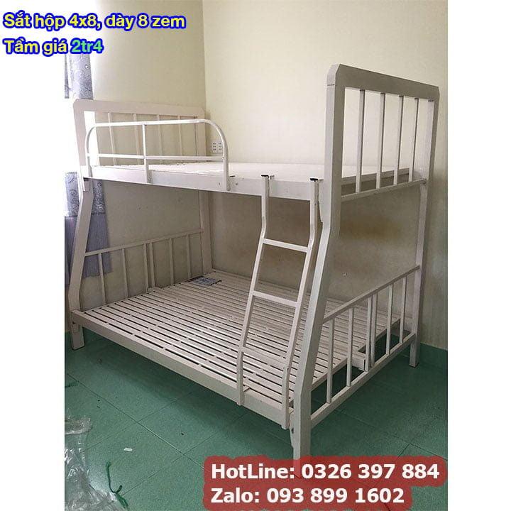 Giường tầng sắt, giường ngủ 2 tầng 1m, 1m2, 1m4, 1m6, 1m8 x 2m giá rẻ 9