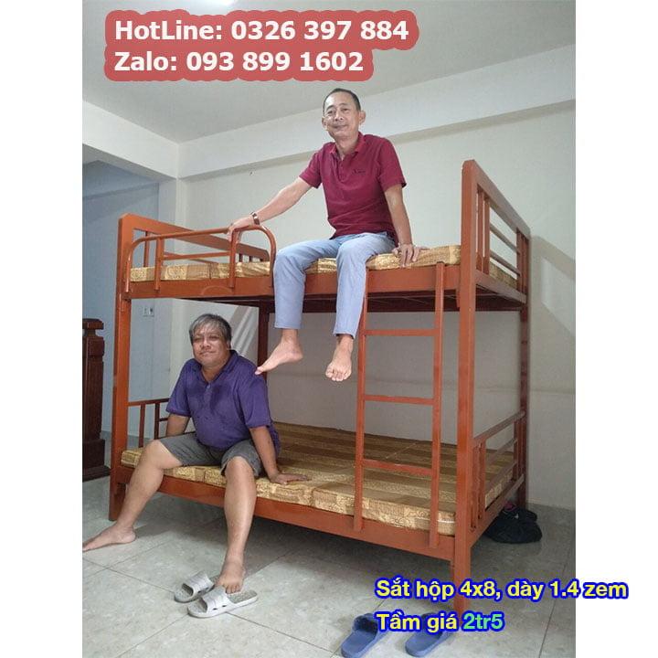 Giường tầng sắt, giường ngủ 2 tầng 1m, 1m2, 1m4, 1m6, 1m8 x 2m giá rẻ 4