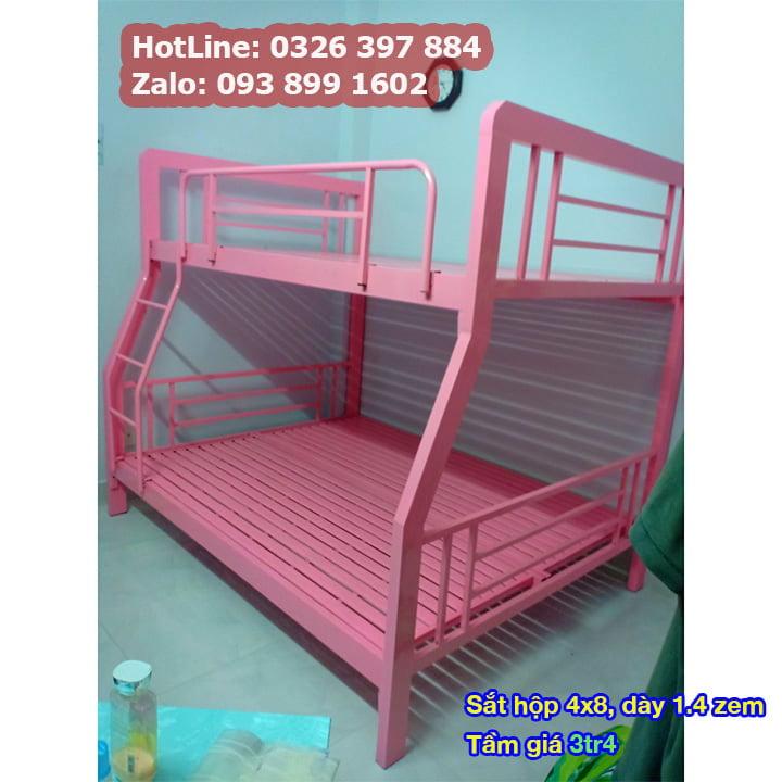 Giường tầng sắt, giường ngủ 2 tầng 1m, 1m2, 1m4, 1m6, 1m8 x 2m giá rẻ 12
