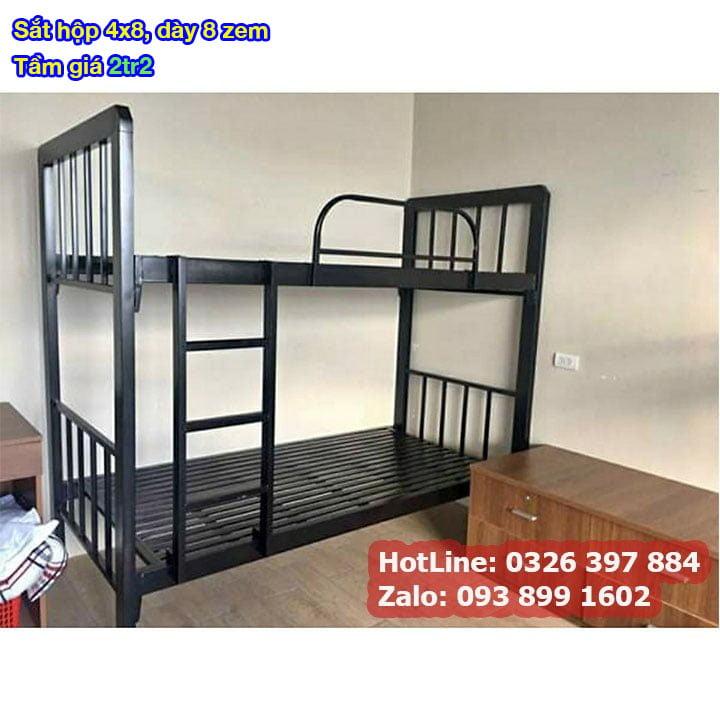 Giường tầng sắt, giường ngủ 2 tầng 1m, 1m2, 1m4, 1m6, 1m8 x 2m giá rẻ 1
