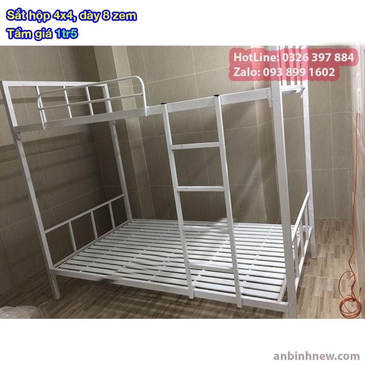 Giường tầng sắt, giường ngủ 2 tầng 1m, 1m2, 1m4, 1m6, 1m8 x 2m giá rẻ 3